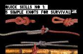 Snelle vaardigheden #1: 5 eenvoudige knopen voor Survival