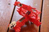 Red Barron 3D print met hete lijm