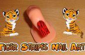 Tijger strepen nail art