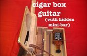 Sigaar vak gitaar met verborgen Whiskey Mini Bar