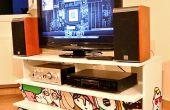 Een PC die is ingesloten in een IKEA Benno TV-meubels