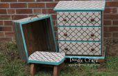 DIY aangepast Stencil en vlek meubels!