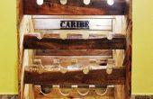 Rustieke wijn rack uit pallets voor 16 flessen