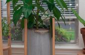 Eenvoudige houten deuvel Plant Stand