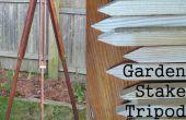 Vintage stijl tuin spel statief