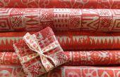 Batik Xmas inpakpapier