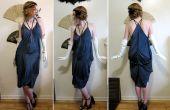 3 zijden sjaals en 3 naden omzetten in een stijl van de jaren 1920 zakdoek jurk