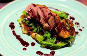 Eend met een aalbes en rode wijnsaus | Koken met Benji