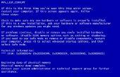 Blauw scherm van dood Prank