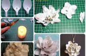 Plastic lepel bloem (DIY)