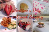 Aftelkalender voor Valentijnsdag zoete en hartige lekkernijen