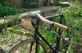 Houten fiets Stuur handvatten.