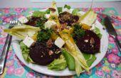 Vegetarisch seizoensgebonden salade met verse kervel-oranje dressing