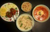 Boter (Tandoori) kip & dateert van rijstpap