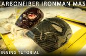 Carbonfiber Ironman & Spiderman maskeren (villen/verpakking)