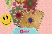 Papieren zakdoekje bloemen