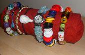 Sieraden display roll gemaakt met de items van elke dag.