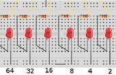 65xx technologie - W65C02SXB binaire teller LED project