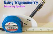 Meten van de hoogte met behulp van de trigonometrie (meten Tape Hack)