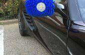 Vleugel spiegel sokken voor uw auto - ondersteuning Leicester City in stijl