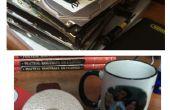 Ijdelheid spiegels en koffie kopje Coasters uit oude harde schijven