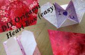 DIY Origami hart vak - geheim bericht (gemakkelijk