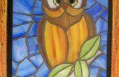Faux gebrandschilderd glas Owl