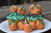 Oreo pompoen Patch Cupcakes