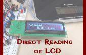 Directe lezing van LCD-scherm met behulp van algemene doel IO