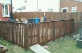 Pallet houten hek