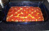 Low carb, eiwitrijk pizza met zelfgemaakte saus