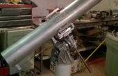 6' f8 Newtoniaanse met slee Focuser op EQ mount