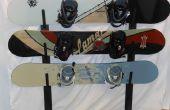 Mooie metalen Snowboard Rack
