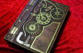 Steampunk geïnspireerd hout boek