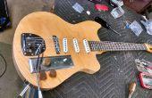Een gitaar verdienen een holle kern deur