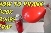 Hoe Booby Trap een deur met een ballon en scheerschuim