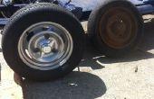 Chroom zilver poederlaag en vintage racing wheel aanpassing