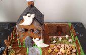 Halloween peperkoek huis (midden stuk)