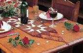 Hoe maak je een rustieke tafel-Runner