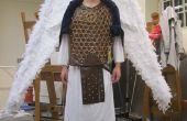 Warrior Aartsengel kostuum met kabel gecontroleerd vleugels