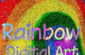 Digitale Rainbow - hoe u kunt inkleuren van kras