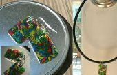 Doodle oorbellen (Jewelry Charms) door Recycling #6 kunststof (Maak uw eigen shrinky dinks!)