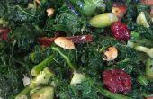 Aziatische boerenkool salade met homemake sesame dressing
