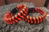 TWEE kleur PARACORD FISHTAIL armband