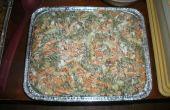 Spek/bluecheese macaroni salade BBQ bijgerecht