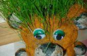 Schattig gras tijger te maken met uw jonge geitjes