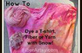 Sneeuw verven! Kleurstof Tshirt, vezels of garens met sneeuw