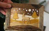 Hoe maak je houten kerstkaarten