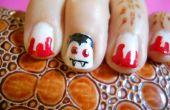 Eenvoudige Dracula nail art