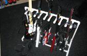 PVC gitaar staan voor Guitar Hero en Rock Band